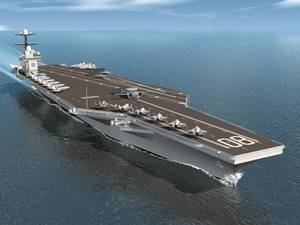 Rendering of the third ship in the Ford class of aircraft carriers, Enterprise (CVN 80) (Image: HII)