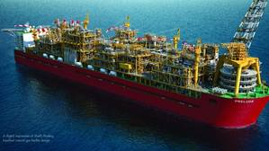 Shells Prelude floating LNG production vessel (Photo: Shell)