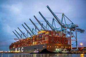 MSC Isabella at APM Terminals' Pier 400 in the Port of Los Angeles (Photo: Port of Los Angeles)