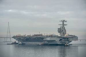 Aircraft carrier Gerald R. Ford (CVN 78) in November 2013 (Photo by Chris Oxley / HII)