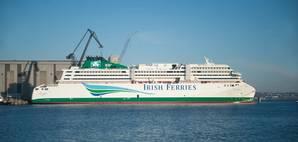 Ferry newbuild W.B. Yeats at the FSG pier (Photo: FSG)
