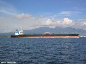 The Iranian oil tanker Adrian Darya 1, under its former name in a recent photo. CREDIT: MarineTraffic.com