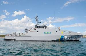 The PSS President Hi.I Remeliik II is a 39.5 metre Guardian Class Patrol Boat, designed and constructed by Austal Australia. (Photo: Austal)