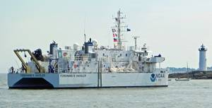 Hassler arrives at homeport: Photo credit NOAA