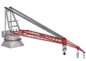 illustration of the 5,000mt Allseas Tub Crane