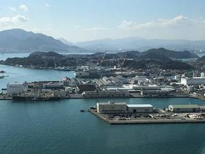 Mitsubishi Shimonoseki Shipyard, where the vessels with Valmet scrubbers are manufactured, is located on the Kanmon Strait in Japan. (Photo: Valmet)