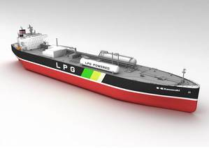 Rendering of an LPG dual-fueled very large gas carrier (VLGC) ordered by NYK. (Image: NYK)