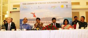 "File Photo:  Union Minister of Shipping Nitin Gadkari addressing the Media after the event at the exclusive preview of ""The Dawn of Cruise Tourism in India"" in Mumbai on August 8,2017"