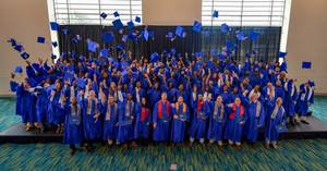 The Class of 2017 at Ingalls Shipbuildings Apprentice School celebrates at their graduation ceremony (Photo: Andrew Young/HII)
