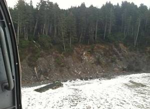 Beached Dock: Photo credit USCG