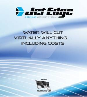 Brochure cover: Image courtesy of Jet Edge