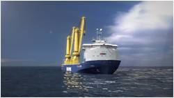 Artist impression of the new K-3000 vessel. (Photo: Jumbo Shipping)