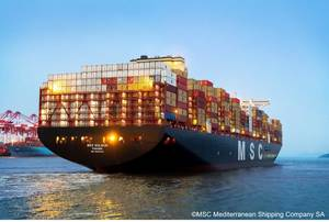 MacGregor has built a new cargo system for one of the world's largest container ships, the MSC Gülsün. (Photo © MSC Mediterranean Shipping Company SA)