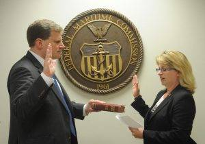 Commissioner Daniel B. Maffei has been sworn in as the Chairman of the Federal Maritime Commission. Photo courtesy FMC