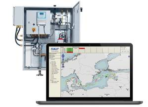 The SKF BlueMon monitoring system from SKF informs the crew of whether the ship's emissions are within the locally permitted limits or whether they need to respond.