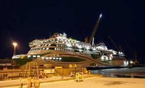 Megastar at the Meyer Turku shipyard in Finland (Photo: Eric Haun)
