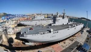 Mistral-class construction: Photo credit Russian Navy