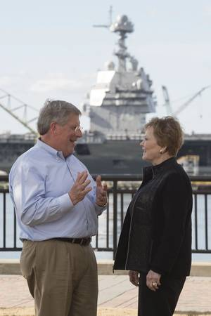 Rep. Kay Granger, R-Texas, visited Newport News Shipbuilding on Thursday. Granger serves as chairwoman of the House Appropriations Committee's Defense Subcommittee. (Photo: John Whalen/HII)