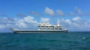 The MV Commander is anchored in the vicinity of Protestant Cay and presents no current threat to the environment