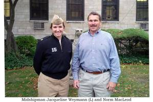 Jacqueline Weymann (left) with Norm MacLeod