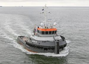 Hybrid shallow-water tug Nora B, built at Neptune Shipyards (Photo: Radio Holland)