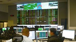 A view from inside the Panama Canal's Marine Traffic Control Center, responsible for the scheduling, coordination and monitoring of vessel traffic through the Panama Canal. (Photo: ACP)