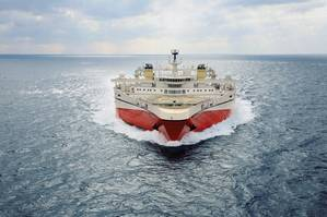 Ramform Tethys represents an enormously stable platform with outstanding seakeeping characteristics.(Photo: PGS)