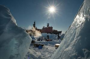 The Kara-Winter-2014 Ice Expedition. (Photo Courtesy Rosneft)