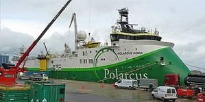 Polarcus Vessel Alongside: Photo credit Damen Shiprepair