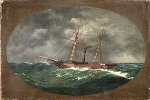 In 1852, W.A.K. Martin painted this picture of the Robert J. Walker. The painting, now at the Mariners Museum in Newport News, Va., is scheduled for restoration. (Credit: The Mariners Museum)