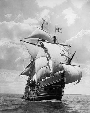 A replica of the Santa Maria (Library of Congress photo)