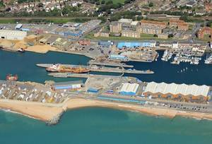 Shoreham Port in West Sussex Photo: Shoreham Port Authority