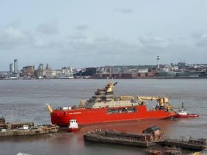 Sir David Attenborough polar ship moves in Cammell Laird (Photo: Cammel Laird)