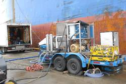Subsea solutions Hull Cleaning machine.