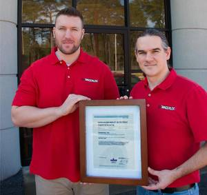 Pictured: Dan Pratt, Project Manager and Kyle Klicker, Quality Assurance Manager (Both co-managed the effort to get certified.) (Photo: Tandemloc)