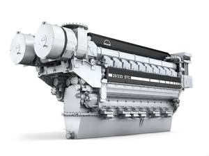 The MAN V2833D STC engine, here pictured in its 20-cylinder configuration. Photo MAN
