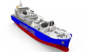 Navire avitailleur GNL 3D LNG bunkering vessel (Photo: Total)