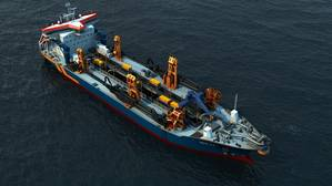 Rendering of trailing suction hopper dredger (Image: Van Oord)