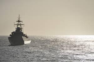 File Image: A UK Navy warship on patrol (CREDIT: AdobeStock / © Peter Cripps)