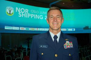 """We're working with four independent labs right now to validate (technology) submittals ... I'm pretty optimistic we will have Coast Guard approved ballast water standards by the IMO  conference in November.""  Admiral Paul Zukunft, Commandant of the USCG, discussing the  ballast water issue at NorShipping (Photo: William Stoichevski)"