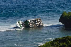 Wreck of Daiki Maru 7: Photo courtesy of USN