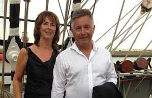 Douwe and Aleida Visser, owners of Visser Shipping. Photo: Visser Shipping