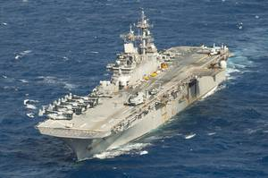 Amphibious assault ship USS Wasp (LHD 1) (File photo: Taylor King / U.S. Navy)