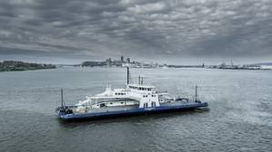 The ferry MV Armand-Imbeau II built for the Canadian operator Société des traversiers du Québec (STQ), will operate on LNG fuel. (Image: Davie Shipyards)