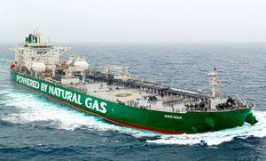 A previously delivered vessel of the same class of Green Funnel tankers (Courtesy SCF Group)