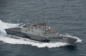 Littoral combat ship USS Fort Worth (LCS 3). (Official U.S. Navy photo)