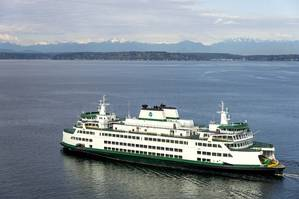 The new ferry M/V Samish undergoing sea trials in April 2015 in Seattle (Photo: Washington State Dept of Transportation)