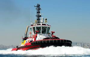 A tug built by Sanmar Shipyards (Photo: Caterpillar Marine)