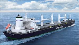 Pioneer Green Dolphin bulk carrier (Image: ABB)