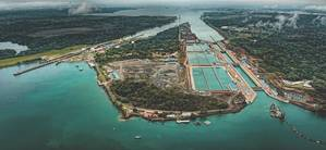 The enlarged Panama Canal potentially helps inland operators as deep(er) blue water ports attract still larger tonnage that can load more grain and bulk products. (Photo courtesy of the Panama Canal)
